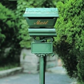 Cast aluminum mailbox and post 1