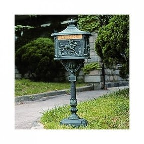 Cast aluminum mailbox and post 9