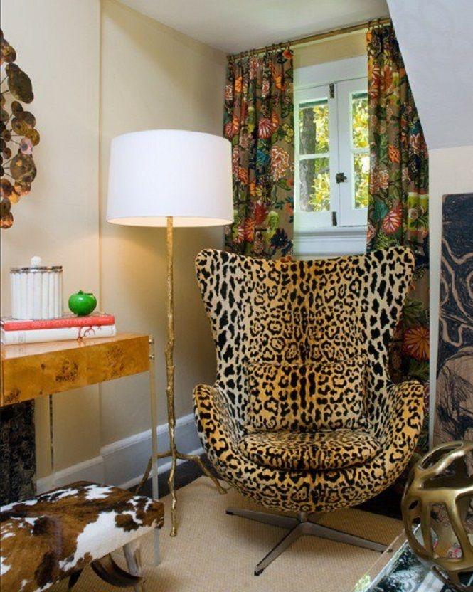 Bon Cheetah Print Accent Chairs