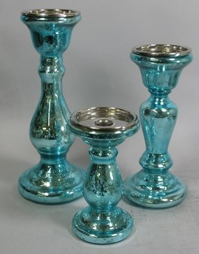 Colored glass candlesticks 1