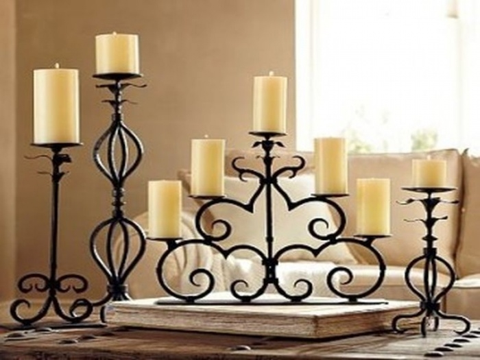 Elan wrought iron pillar holders