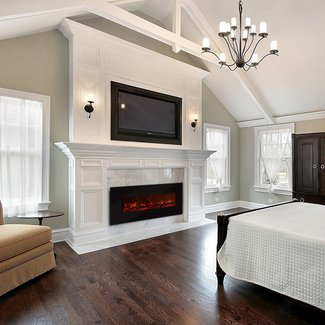 Electric fireplace mantels surrounds 1