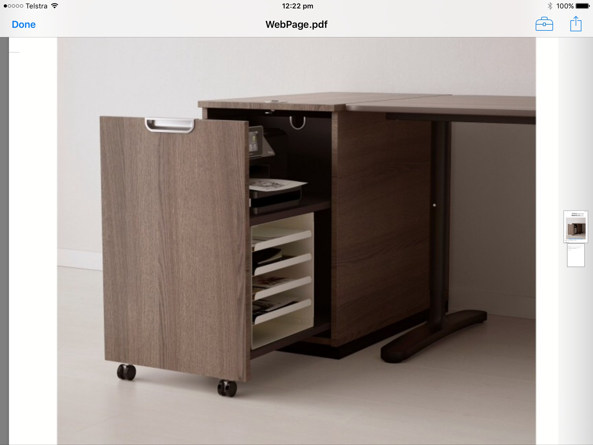Delicieux File Cabinet Printer Stand
