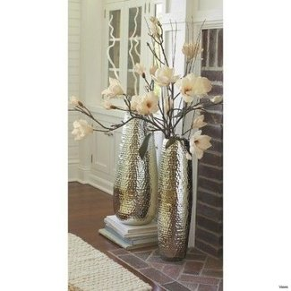 Tall Metal Floor Vases - Foter on floor pillows fireplace, floor cushions fireplace, floor vase ideas,