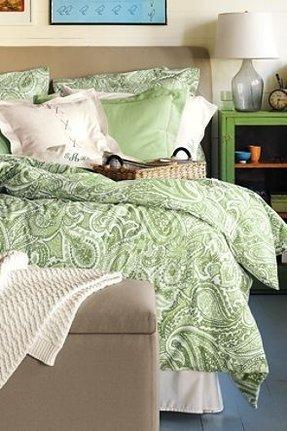 Green Paisley Bedding 5