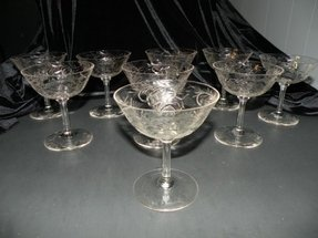 Hand blown crystal wine glasses 22