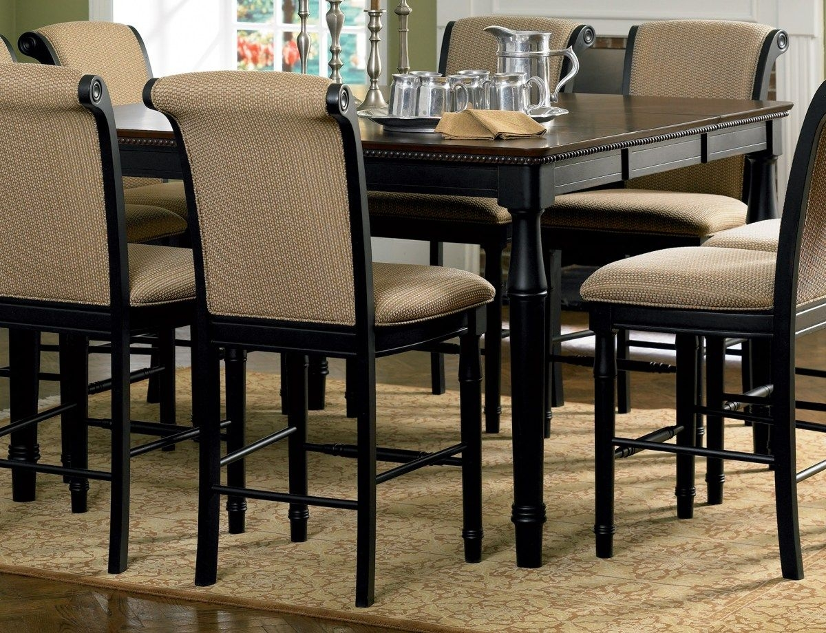 High top dining table with 8 chairs : dining room table sets for 8 - pezcame.com