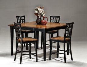 Champagne 7 Piece Round Dining Room Furniture Set