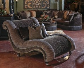 Indoor double chaise lounge 1