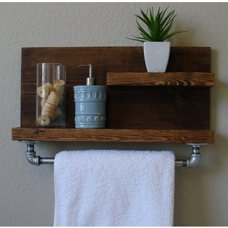 Industrial rustic modern 2 tier floating