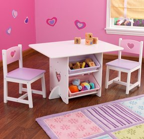 Kidkraft heart table and chair set for little girls room