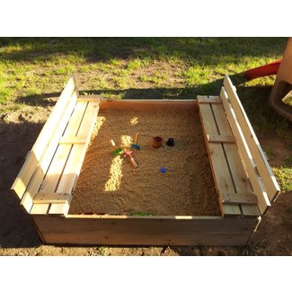 Large sandbox with cover