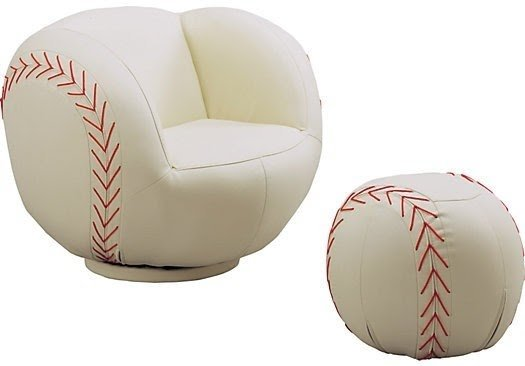 Leather Baseball Chair