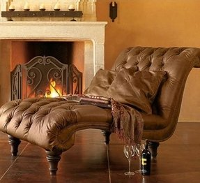 Leather chaise lounge 2