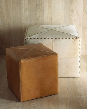 Leather cubes