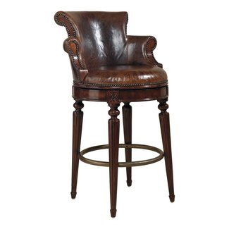 Leather swivel counter stools