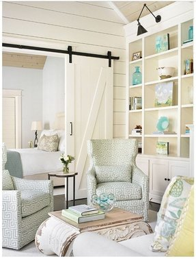 Light blue accent chairs