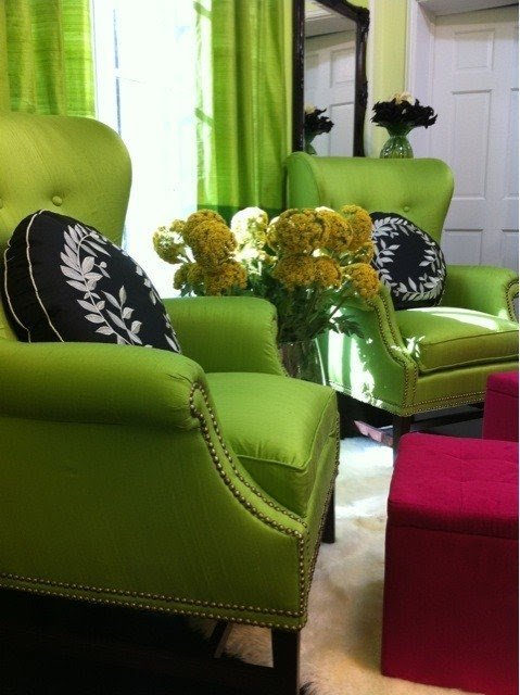 Gentil Lime Green Accent Chair