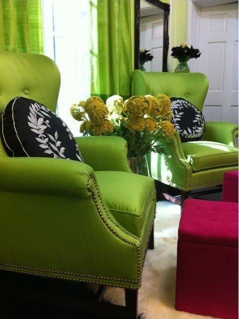 Merveilleux Lime Green Accent Chair