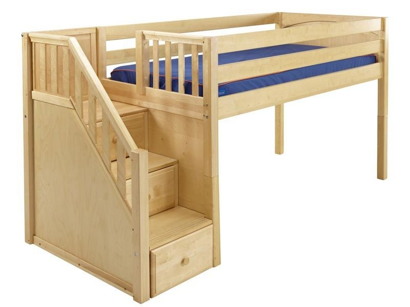 Merveilleux Loft Bed With Stairs Plans