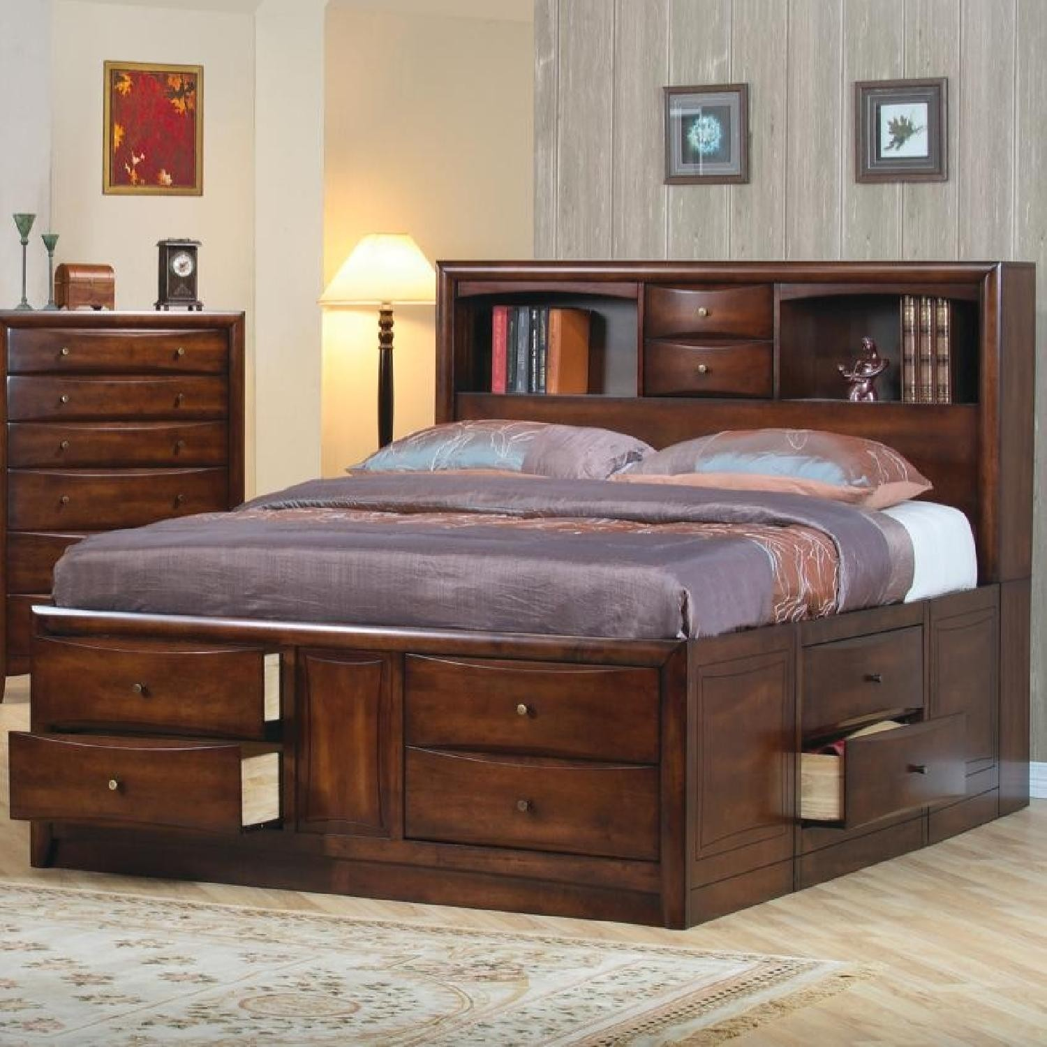 Mason Queen Captains Bed / Storage Chest Bed - Coaster 200609Q & Captains Bed With Storage Drawers - Foter