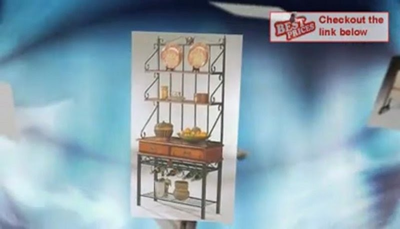 Metal And Wood Bakers Rack