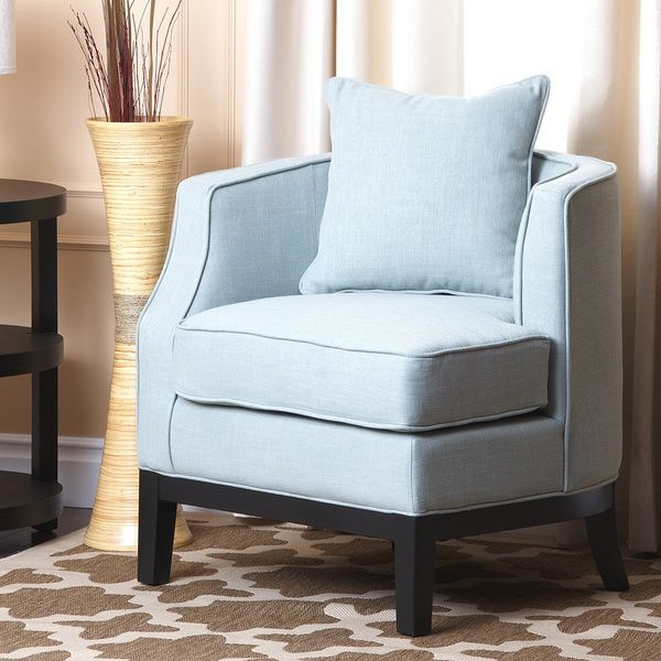 Superieur Metro Shop Abbyson Living Eve Blue Fabric Corner Chair Sky Blue