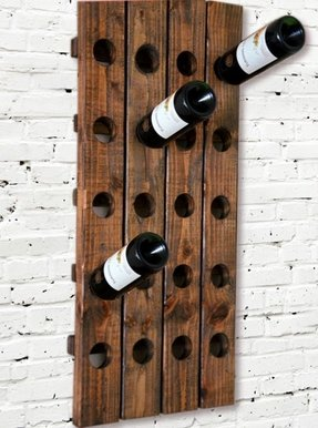 Modern wine rack riddling style wall
