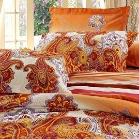 Orange Paisley Bedding Foter