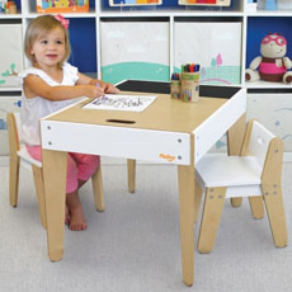 Our smartest table and chair set loaded with style and  sc 1 st  Foter & Toddler Table And Chairs With Storage - Foter