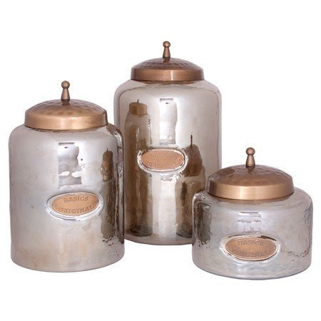 Pure rustics 3 piece forleo canister set
