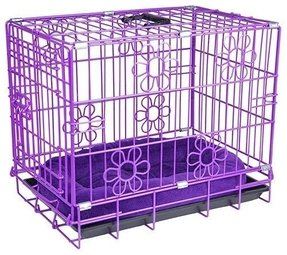 Purple dog crate 3