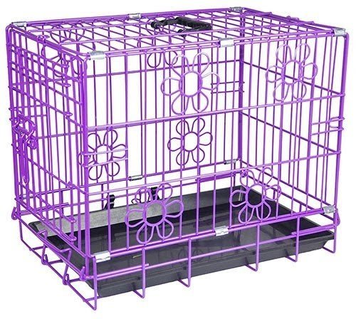 Purple dog crate 6