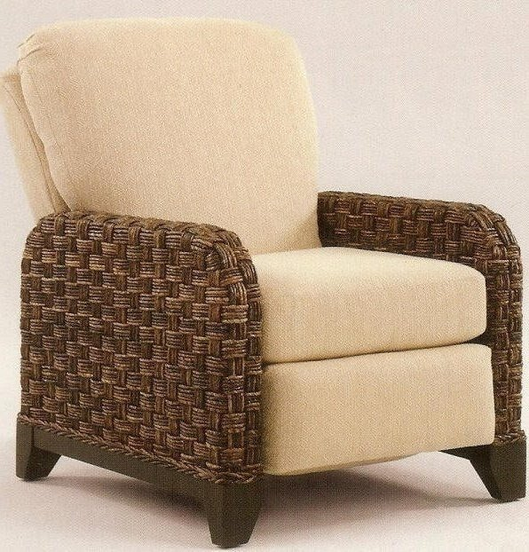 Reclining wicker chairs