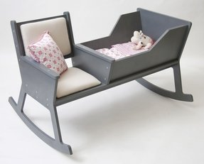 Rocking chair cradle contemporary kids bedding charlotte