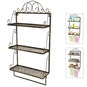 Bathroom Wall Shelves And Storage - Foter on metal wall shelf rack, metal bathroom storage shelf, metal bathroom storage racks, metal bathroom towel rack,