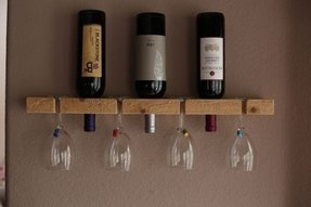 racks room with wall dining mount transitional wine ikea mounted decorative bottle rack