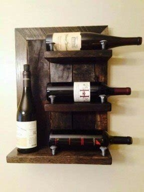 Rustic Wall Mounted Wine Rack Foter