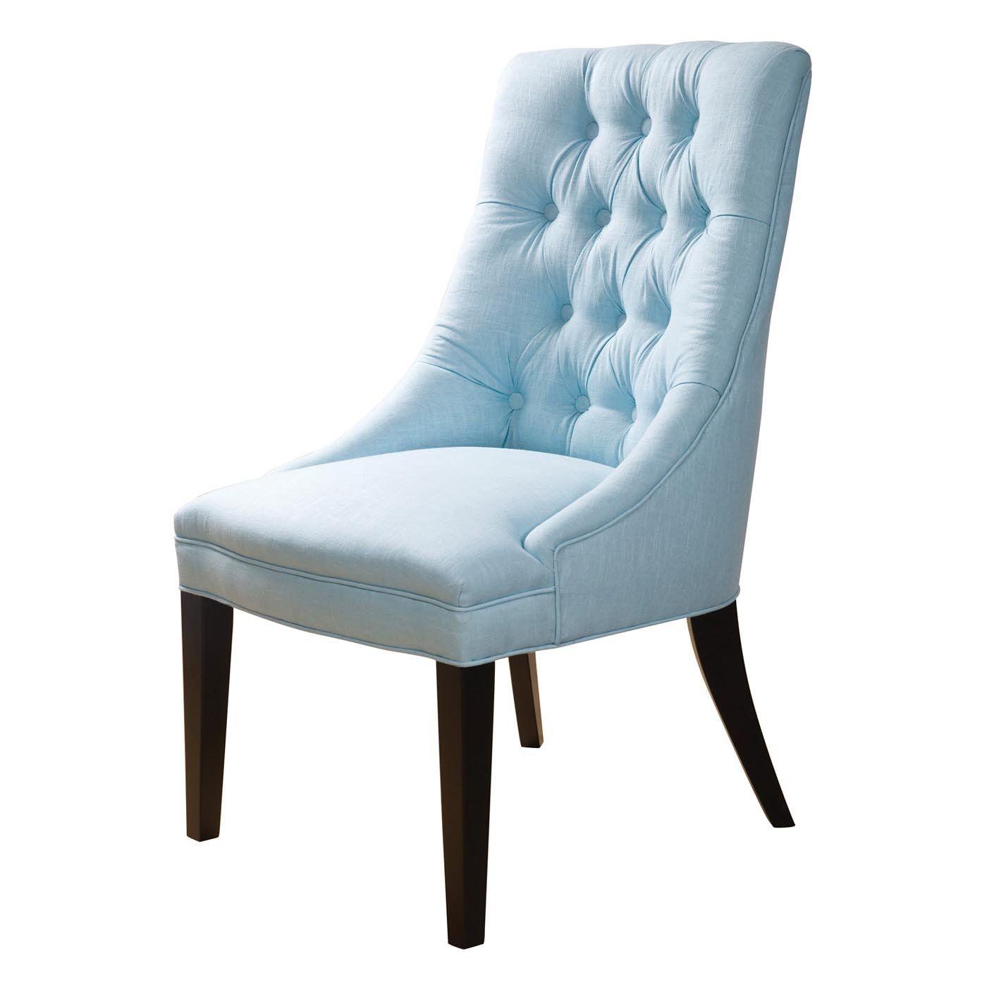 Bon Sandy Wilson Cashmir Accent Chair, Light Blue