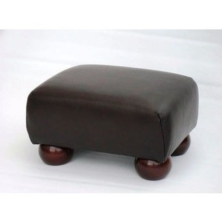 Small leather footstools