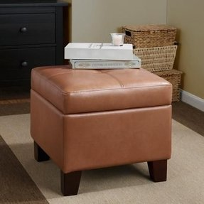 Small leather ottoman cube 15