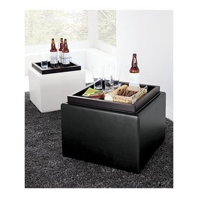 Small leather ottoman cube 2