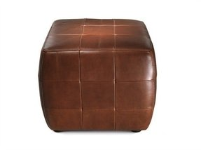 Small leather ottoman cube 4