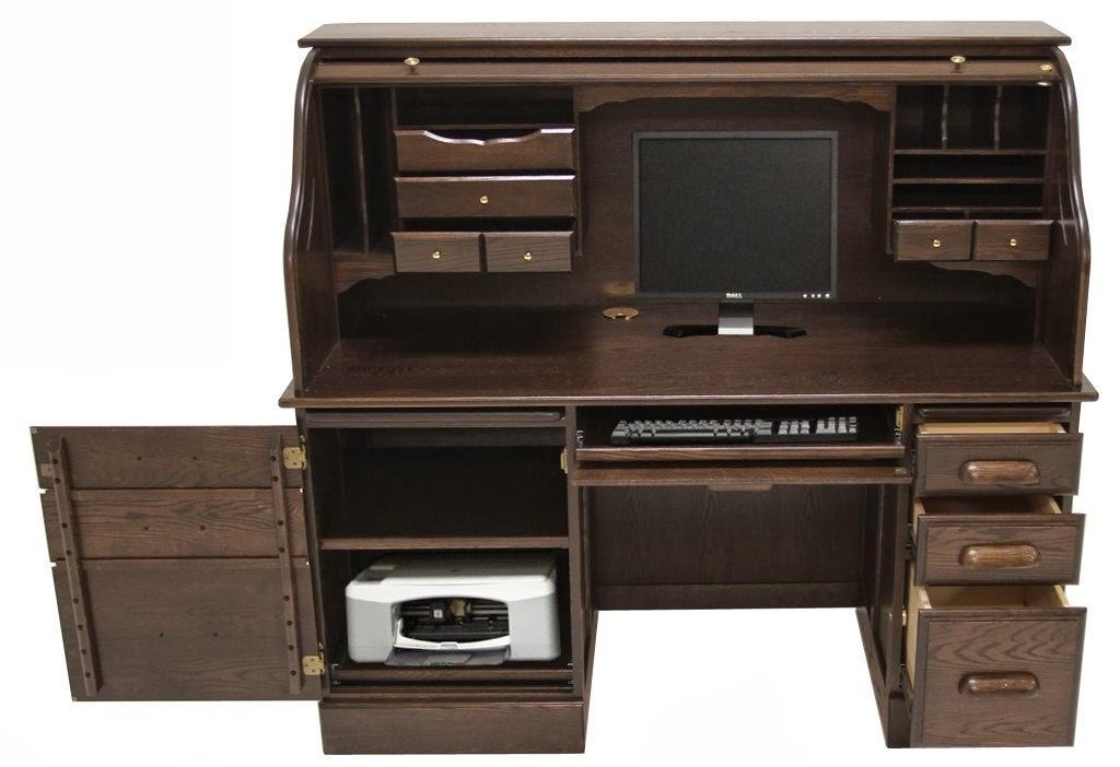 Nice Roll Top Computer Desk Model