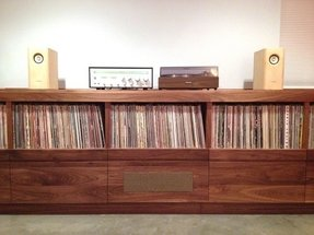 Stereo storage cabinet