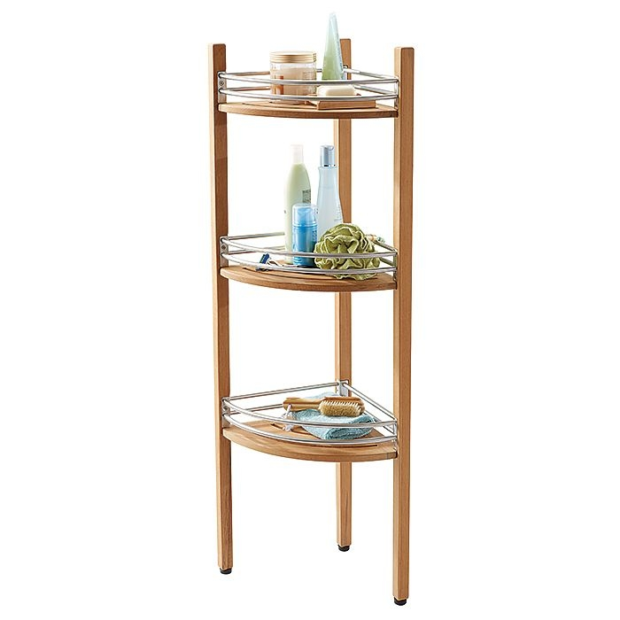 Teak Corner Shower Caddy