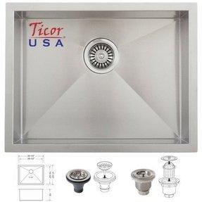 Are Kitchen Sinks Made Of Kitchen sinks made in usa foter ticor usa 205 az3660bg undermount 16 gauge stainless steel square kitchen sink made in usa workwithnaturefo