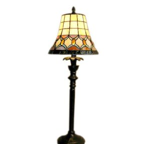 Tiffany style jeweled table lamp