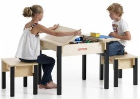 Toddler table and chairs with storage 1