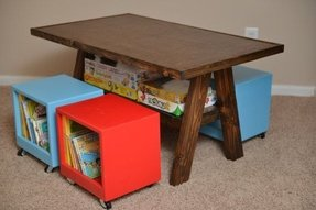 Toddler table and chairs with storage 3